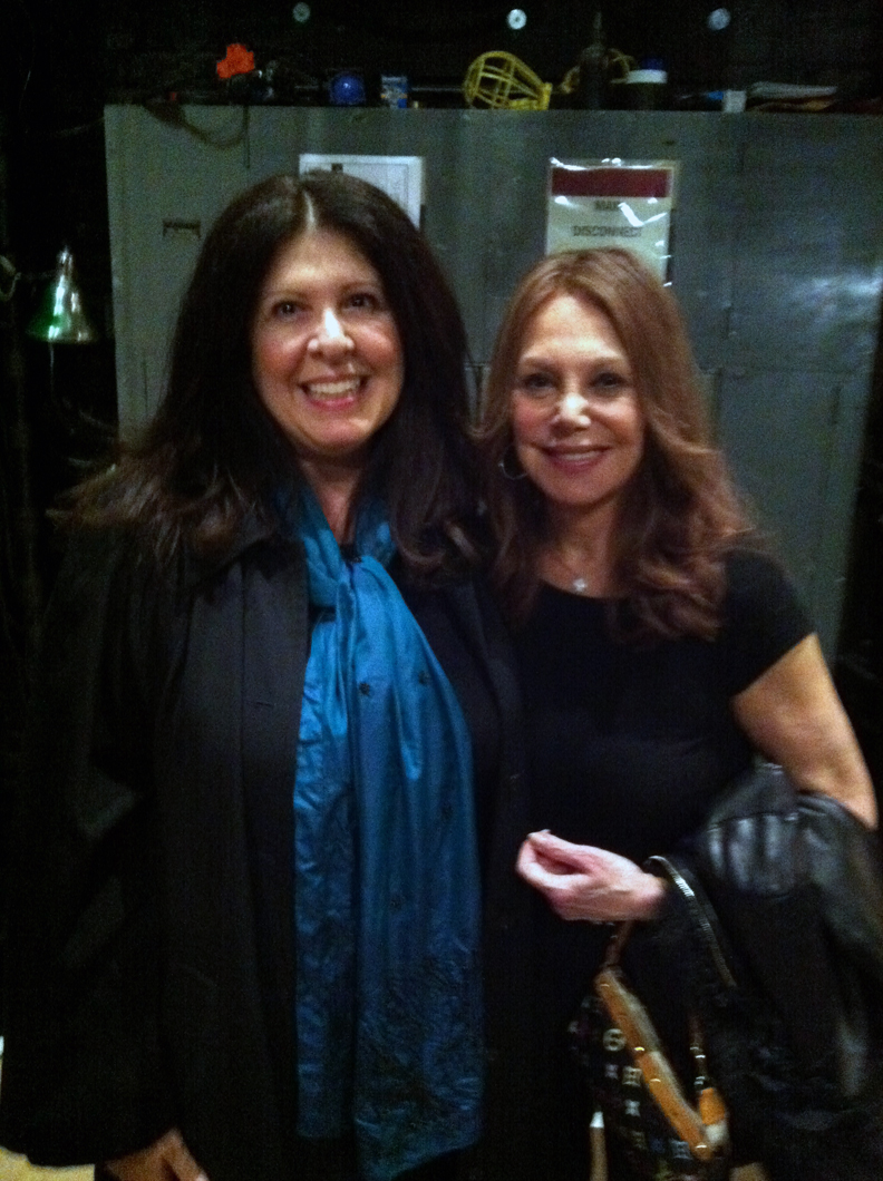 Backstage at the Brooks Atkinson Theatre following Marlo Thomas' performance in Relatively Speaking. Photo credit: John Rich