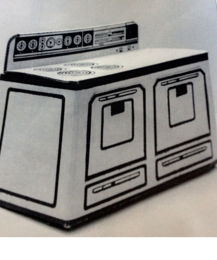 Silver Grille cardboard oven