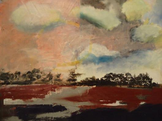 Leslie Miller (American, 1950- ) Pink Sky II, 1996 Mixed media