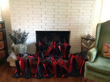 The swag bags were set by the chimney with care...