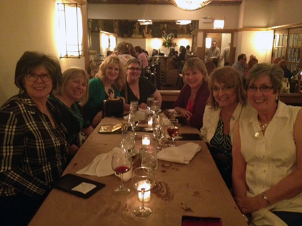Dinner at Coco Pazzo Cafe with some of the Verizon Boomer Voices gang.